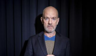 This Oct. 28, 2019 photo shows former R.E.M. singer Michael Stipe posing for a portrait in New York his first solo song since that band retired in 2011. (Photo by Matt Licari/Invision/AP)