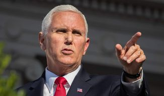 "Vice President Mike Pence called the Trump administration ""the most pro-adoption administration in American history"" on Tuesday. He didn't mention court battles in which Christian adoption agencies are accused of violating anti-discrimination rules. (ASSOCIATED PRESS)"