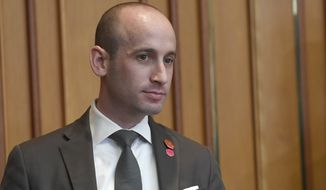 White House senior policy adviser Stephen Miller waits for the start of a meeting with President Donald Trump.   (AP Photo/Susan Walsh, File)