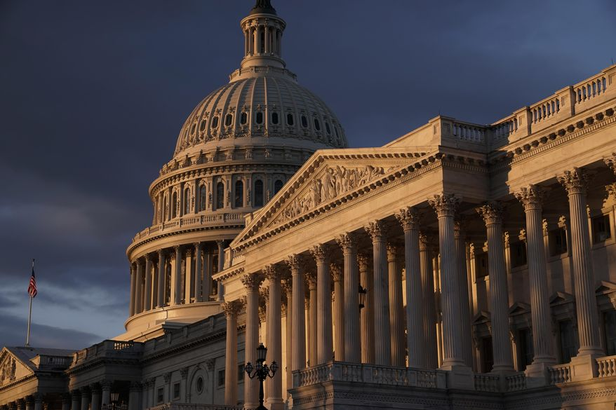 The Capitol is seen in Washington, early Friday, Nov. 8, 2019. Impeachment hearings for President Donald Trump come at the very time that Capitol Hill usually tends to its mound of unfinished business. (AP Photo/J. Scott Applewhite)