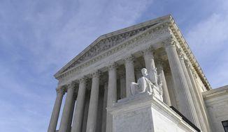 A view of the Supreme Court in Washington, Monday, Nov. 11, 2019. (AP Photo/Susan Walsh) ** FILE **