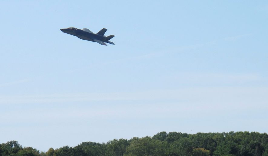 The F-35 fighter jet faces major issues. This includes poor performance of the information technology system used to sustain the aircraft. (ASSOCIATED PRESS)