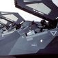 F-117 stealth fighter aircraft of the 37th Tactical Fighter Wing stand on the flight line with canopies raised following their return from Saudi Arabia where they took part in Operation Desert Storm.