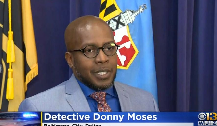 Detective Donny Moses of the Baltimore City Police discusses an ambush by 15 teenagers against an innocent man. He told reporters during a Nov. 12 press conference that the victim is recovering at Shock Trauma Center. (Image: CBS-13 Baltimore screenshot)