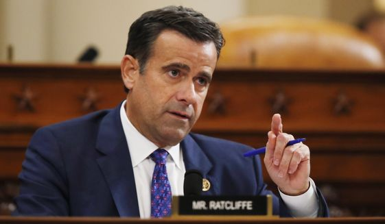 Outgoing Director of National Intelligence John Ratcliffe has accused U.S. intelligence analysts of playing down China's role in interference with the Nov. 3 presidential election. (Associated Press/File)