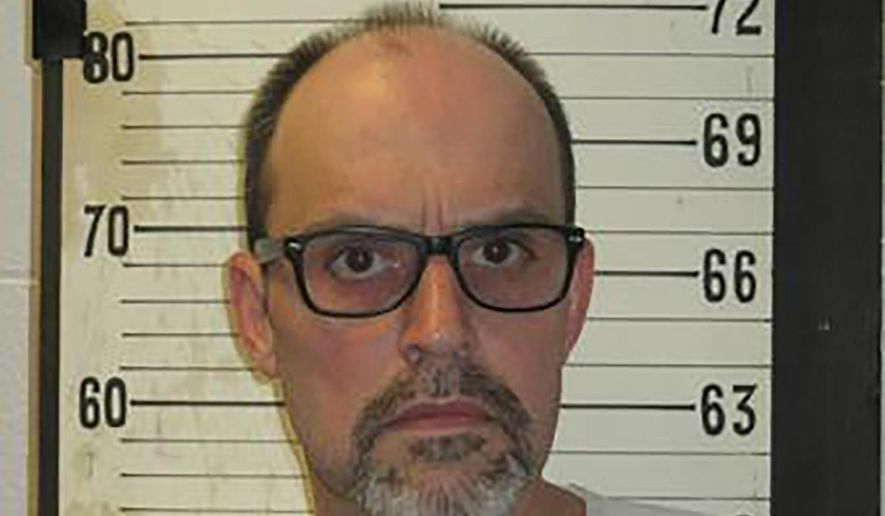 This 2017 photo provided by the Tennessee Department of Correction shows Lee Hall, formerly known as Leroy Hall Jr. Hall, a death row inmate, on Thursday, Nov. 7, 2019, selected electrocution for his upcoming execution, a move that would make him the fourth person in the state to choose that method over lethal injection since 2018. (Tennessee Department of Correction via AP)