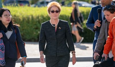 Former U.S. ambassador to Ukraine Marie Yovanovitch is scheduled to testify before congressional lawmakers as part of the impeachment inquiry. She alleges she's the victim of a smear campaign. (Associated Press)