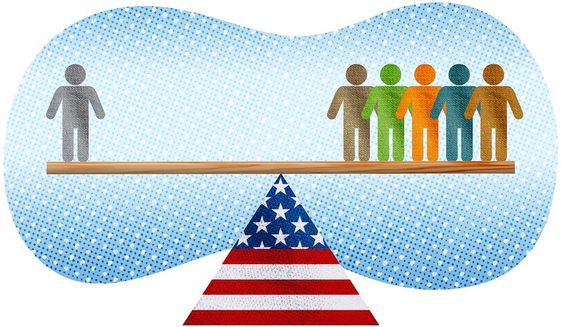 The Radical American Seesaw Illustration by Greg Groesch/The Washington Times