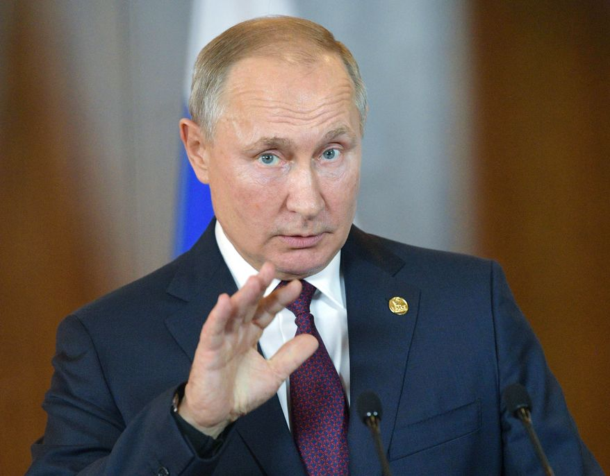 Russian President Vladimir Putin hosted a large delegation of African leaders this month for a summit in Sochi, pitching Russia's potential value as a source of aid and weaponry. (Associated Press/File)