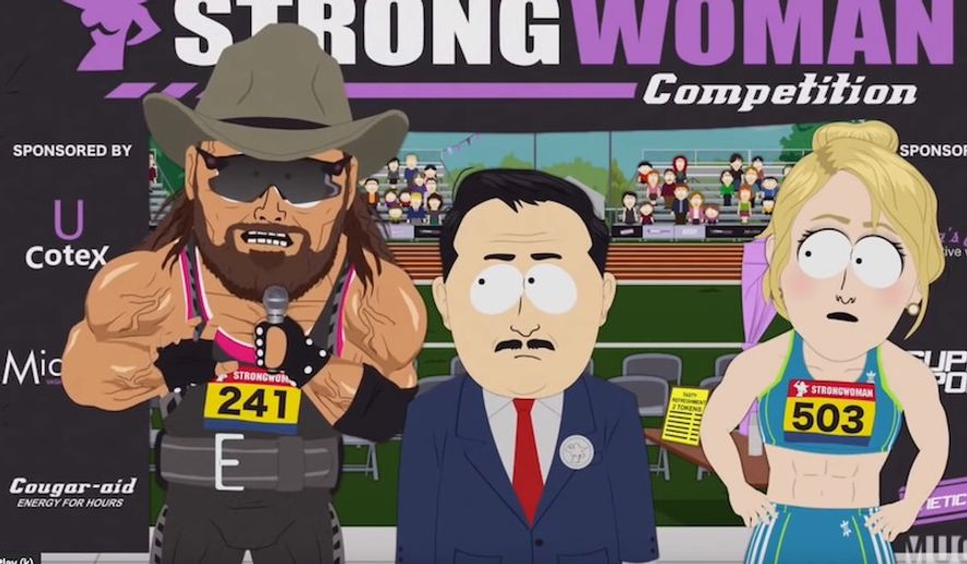 """South Park"" creators Trey Parker and Matt Stone covered transgender athletes in an episode titled ""Board Girls."" (Image: Comedy Central, 'South Park' screenshot)"