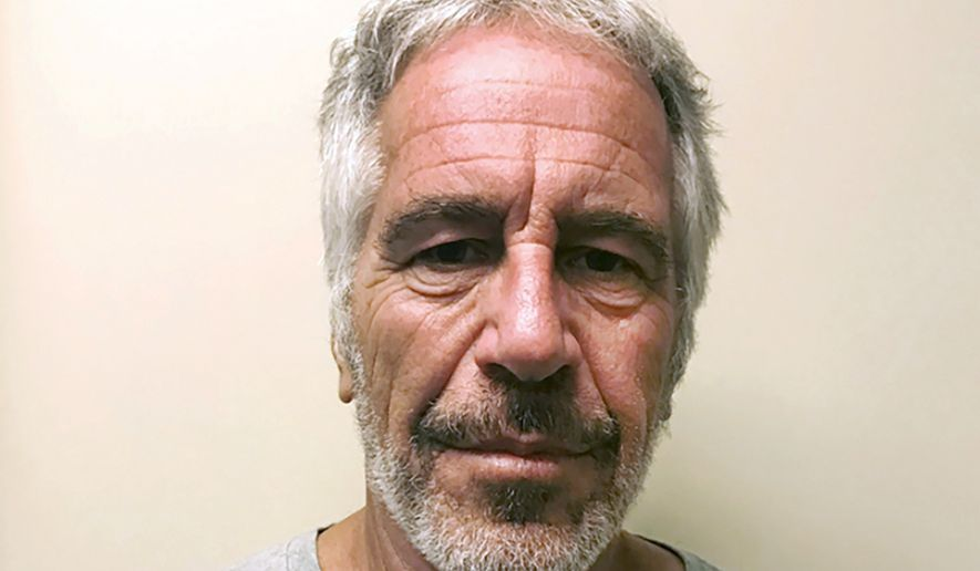 This March 28, 2017, file photo, provided by the New York State Sex Offender Registry, shows Jeffrey Epstein. Federal prosecutors offered a plea deal to two correctional officers responsible for guarding Epstein on the night of his death, but the officers have declined the offer, people familiar with the matter told The Associated Press. (New York State Sex Offender Registry via AP, File)