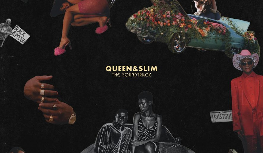 """This cover image released by Motown Records shows the soundtrack for """"Queen & Slim."""" (Motown via AP)"""