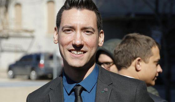 In this Feb. 4, 2016, file photo, David Daleiden, one of two indicted anti-abortion activists, speaks with supporters outside the Harris County Criminal Courthouse in Houston. A federal jury on Friday, Nov. 15, 2019, has found that Daleiden, an anti-abortion activist, illegally secretly recorded workers at Planned Parenthood clinics and is liable for violating federal and state laws. The jury ordered him and others to pay nearly $1 million in damages. (AP Photo/Bob Levey, File) **FILE**