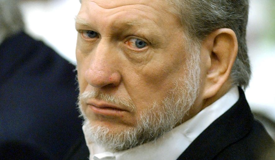 FILE - In this April 5, 2002, file photo, WorldCom Inc., CEO Bernard Ebbers is shown in Jackson, Miss. Ebbers, a former telecommunications executive, was convicted in one of the largest corporate accounting scandals in U.S. history and is asking a judge to shorten his prison sentence so he could be released as his health deteriorates. Ebbers was convicted in New York in 2005 on securities fraud and other charges and started serving a 25-year sentence in 2006. (AP Photo/Rogelio V. Solis, File)