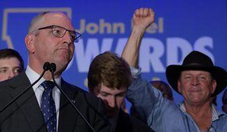 Louisiana Gov. John Bel Edwards won reelection Saturday by defeating Republican rival Eddie Rispone. (Associated Press)