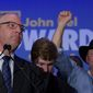 Louisiana Gov. John Bel Edwards won reelection Saturday by defeating Republican rival Eddie Rispone. (Associated Press)