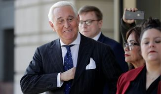 "Roger Stone's trial drew in a parade of ""alt-right"" and other conservative personalities to show their support. Stone was convicted Friday on seven criminal counts, including obstruction, perjury and witness tampering. (Associated Press)"