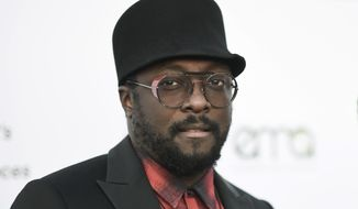 In this Sept. 23, 2017, file photo, will.i.am attends the 27th annual EMA Awards at Barker Hangar in Santa Monica, Calif. (Photo by Richard Shotwell/Invision/AP, File)