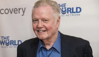 In this March 28, 2019, file photo, Jon Voight attends the Champions of Jewish Values International Awards gala at Carnegie Hall in New York. Oscar-winning actor Voight, singer and musician Alison Krauss and mystery writer James Patterson are among those being honored by President Donald Trump for their contributions to the arts or the humanities. The White House announced four recipients of the National Medal of Arts and four of the National Humanities Medal Sunday night, Nov. 17, 2019. (Photo by Charles Sykes/Invision/AP, File)