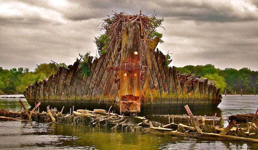 """The Ghost Fleet of the Potomac is one of a dozen sites now listed as the nation's """"biggest preservation wins"""" by the National Trust for Historic Preservation. (Charles County Maryland)"""