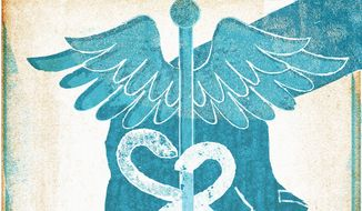 Illustration on providing health care by Donna Grethen/Tribune Content Agency