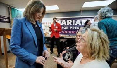 """Democratic presidential candidate and author Marianne Williamson's campaign said it is shifting its efforts to """"organizing in the caucus states."""""""
