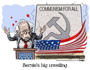Bernie's big unveiling