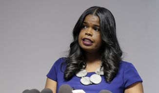 In this Feb. 22, 2019, file photo, Cook County State's Attorney Kim Foxx speaks at a news conference, in Chicago. Foxx who was harshly criticized when her office suddenly dropped charges against actor Jussie Smollett, says Tuesday, Nov. 19, 2019, that she's running for reelection. (AP Photo/Kiichiro Sato, File)