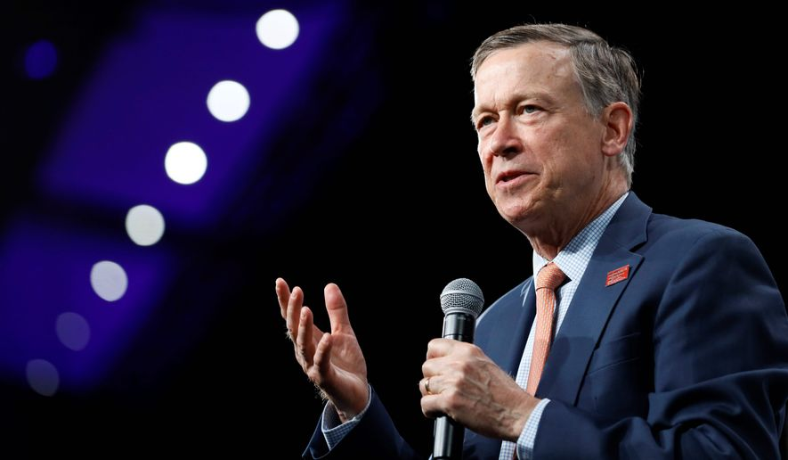 Former Colorado Gov. John Hickenlooper is running for the Democratic nomination for the Senate seat. His campaign hit a snag when activists endorsed former House Speaker Andrew Romanoff instead. (Associated Press Photographs)