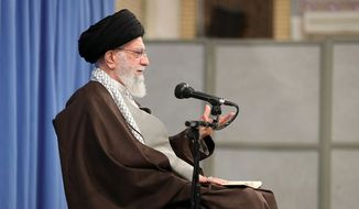 Iran's Ayatollah Ali Khamenei has threatened to pull out of the 2015 nuclear accord if Tehran is unable to achieve sufficient economic benefits. (Associated Press/File)