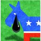 Illustration on Democrats and fossil fuels by Alexander Hunter/The Washington Times