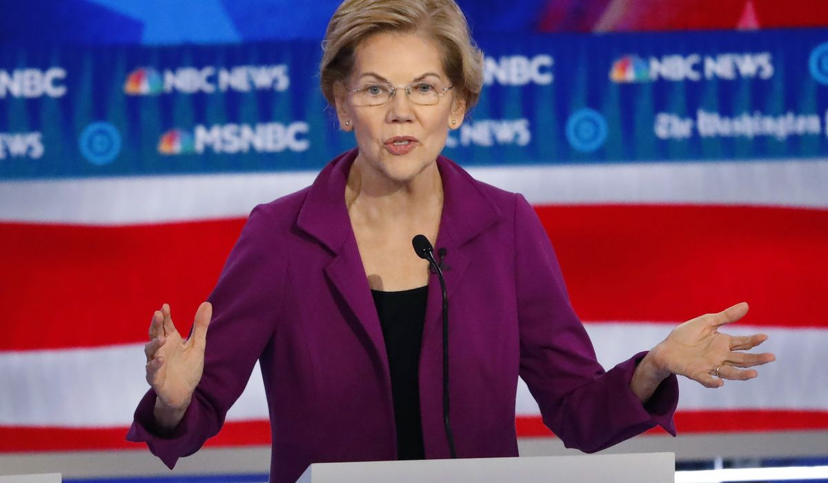 Elizabeth Warren says she might tear down parts of Trump's border wall