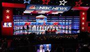 Democratic presidential candidates from left, Sen. Cory Booker, D-N.J., Rep. Tulsi Gabbard, D-Hawaii, Sen. Amy Klobuchar, D-Minn., South Bend, Ind., Mayor Pete Buttigieg, Sen. Elizabeth Warren, D-Mass., former Vice President Joe Biden, Sen. Bernie Sanders, I-Vt., Sen. Kamala Harris, D-Calif., former technology executive Andrew Yang and investor Tom Steyer participate in a Democratic presidential primary debate, Wednesday, Nov. 20, 2019, in Atlanta. (AP Photo/John Bazemore)
