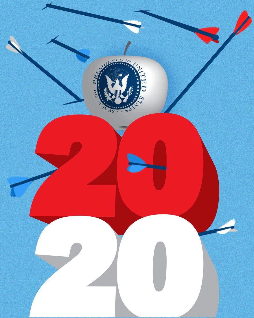 Illustration on Democrat desperation by Linas Garsys/The Washington Times