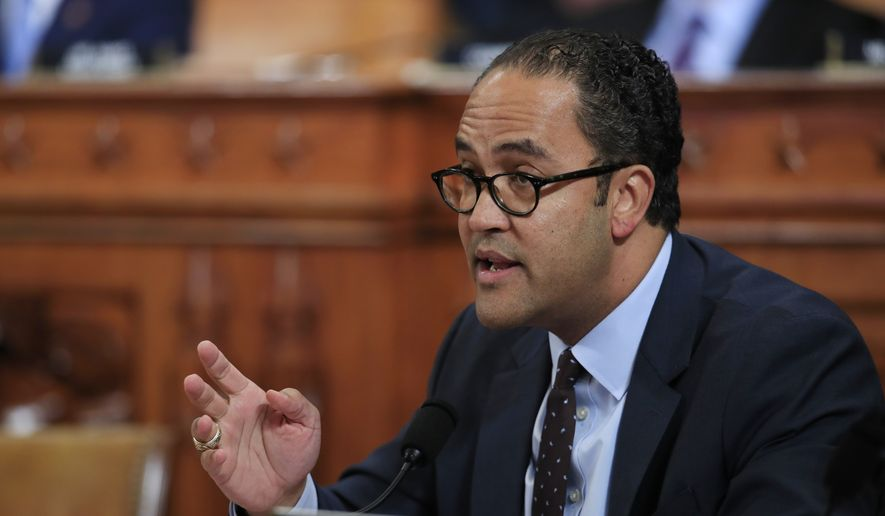 Rep. Will Hurd, R-Texas, questions former White House national security aide Fiona Hill, and David Holmes, a U.S. diplomat in Ukraine, as they testify before the House Intelligence Committee on Capitol Hill in Washington, Thursday, Nov. 21, 2019, during a public impeachment hearing of President Donald Trump's efforts to tie U.S. aid for Ukraine to investigations of his political opponents. (AP Photo/Manuel Balce Ceneta)