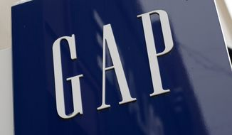 This Friday, Feb. 10, 2017, photo shows the sign on a Gap store in the Shadyside shopping district of Pittsburgh. The Gap Inc. reports earnings on Thursday, Nov. 21, 2019. (AP Photo/Gene J. Puskar)