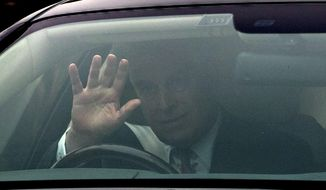 """Britain's Prince Andrew leaves his home in Windsor, England, Thursday, Nov. 21, 2019. A lawyer for the victims of sex offender Jeffrey Epstein says Britain's Prince Andrew should speak to U.S. investigators immediately about what he knew of the convicted pedophile. U.S. attorney Gloria Allred says Andrew should contact American authorities """"without conditions and without delay."""" Andrew has announced he was pulling out of public duties """"for the foreseeable future"""" amid a firestorm of criticism over his friendship with Epstein. (Steve Parsons/PA via AP)"""