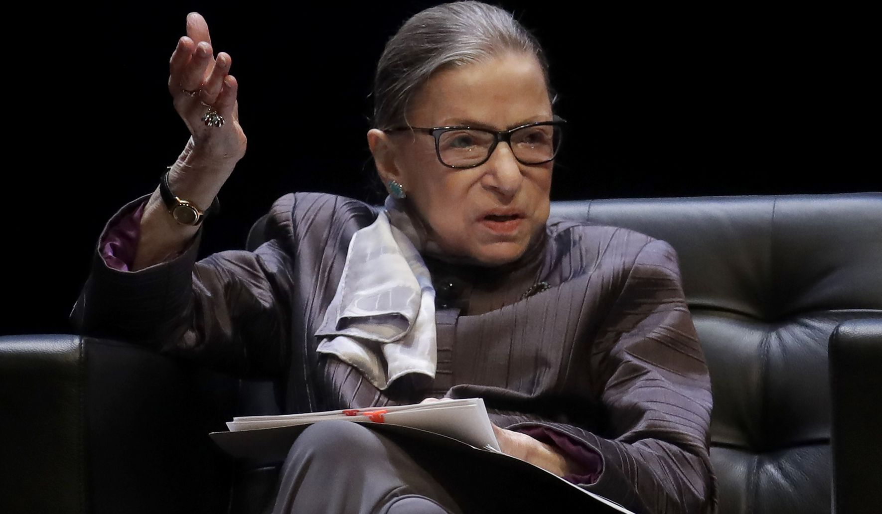 Justice Ginsburg hospitalized with fever  - Washington Times