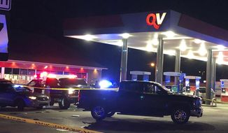 Lowndes County Sheriff John Williams was shot and killed in the line of duty at a convenience store in Hayneville, Ala., on Saturday, Nov. 23, 2019.  (Kirsten Fiscus/Montgomery Advertiser via AP)