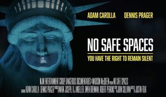"""""""No Safe Spaces,"""" an independent film tracking threats against free speech, will expand into major cities thanks to a warm public reception. (MJM Productions)"""