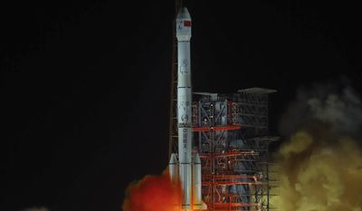 China launched a groundbreaking mission last year to soft-land a spacecraft on the largely unexplored far side of the moon, demonstrating its growing ambitions as a space power to rival Russia, the European Union and the U.S. (Associated Press/File)