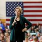 Sen. Elizabeth Warren was asked about her children's schooling during an event in Atlanta. She said her children went to public schools, but her son went to private school after fifth grade. In this file photo, Warren speaks during a campaign stop, Saturday, Nov. 23, 2019, in Manchester, N.H. (AP Photo/Mary Schwalm) ** FILE **