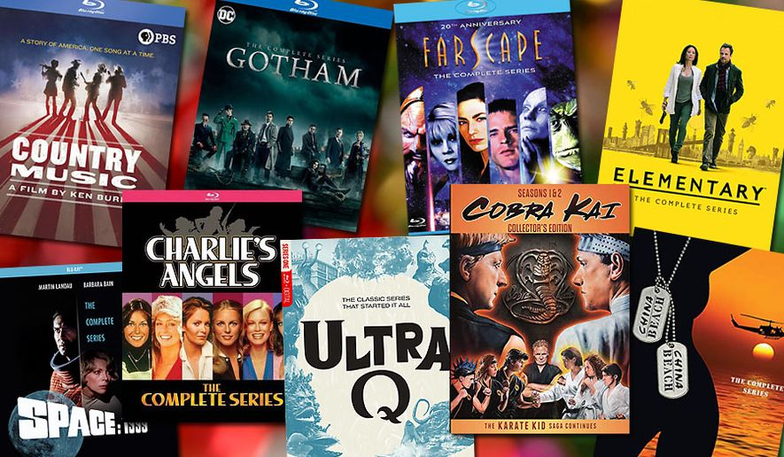 """Gift ideas for television show watchers include """"Country Music, """"Space 1999: The Complete Series,"""" """"Elementary: The Complete Series,"""" """"China Beach: The Complete Series,"""" """"Ultra Q: The Complete Series,"""" """"Farscape: The Complete Series,"""" """"Charlie's Angels: The Complete Series"""" """"Gotham: The Complete Series"""" and """"Cobra Kai: Season 1 and 2, Collector's Edition."""""""