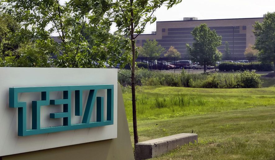 In this July 25, 2005, photo, the offices of Teva Pharmaceuticals North America are seen in Horsham, Pa. At least a half-dozen companies that make or distribute prescription opioid painkillers are facing a federal criminal investigation of their roles in a nationwide addiction and overdose crisis. The Wall Street Journal first reported the investigation Tuesday, Nov. 26, 2019, citing unnamed sources familiar with the probe. (AP Photo/George Widman) **FILE**