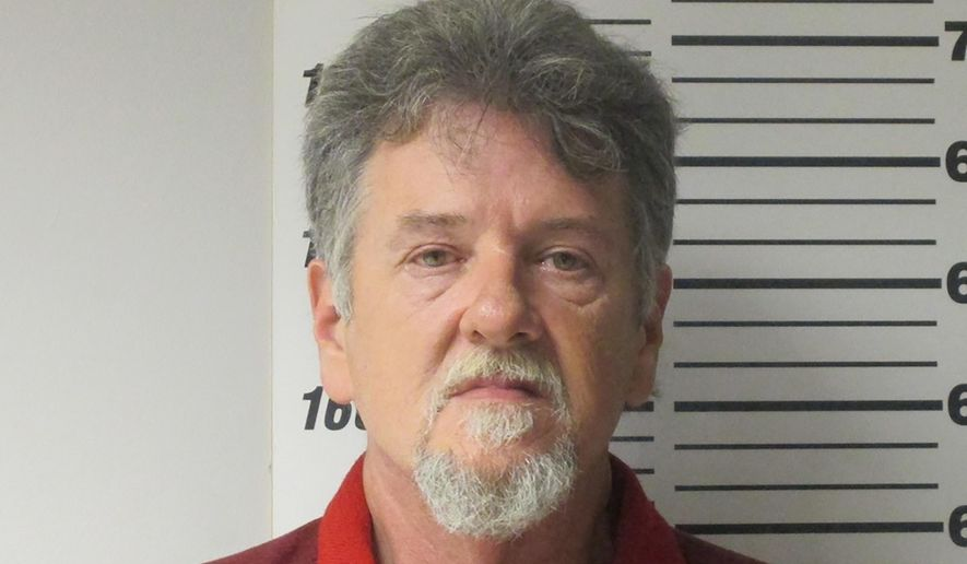 This undated photo provided by the Webster Missouri County Sheriff's Department shows Larry Dinwiddie. Prosecutors charged Dinwiddie Wednesday Nov. 27, 2019, with second-degree murder, alleging he killed his wife in 2015 by hitting her in the head with a hammer and strangling her before stowing the body in a freezer at a storage unit. He was also charged with abandonment of a corpse and armed criminal action in the death of his wife, Cynthia Dinwiddie. (Webster County Sheriff's Department via AP)