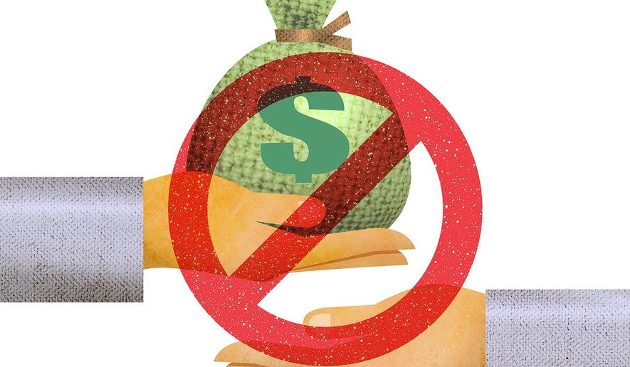 Ban on Lending Money Illustration by Greg Groesch/The Washington Times