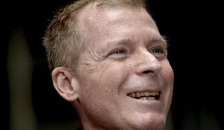 Australian Timothy Weeks smiles during a press conference in Sydney, Sunday, Sunday, Dec. 1, 2019.  The Australian teacher held captive with an American colleague by the Taliban for more than three years believes U.S. Navy SEALs tried and failed six times to free them. Weeks was released last month in a prisoner swap along with American Kevin King, ending an ordeal that began with their 2016 abduction outside the American University in Kabul, where they worked. (Jeremy Piper/AAPImage via AP)