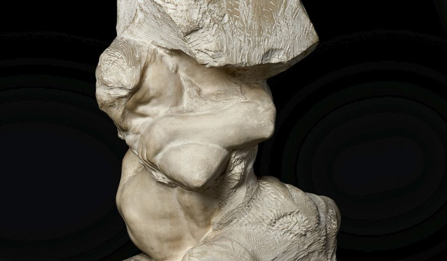 This undated photo provided by Sotheby's shows a Rodin sculpture named La Cariatide Tombée Portant Sa Pierre, or The Fallen Caryatid Carrying Her Stone, that The Ruthmere Museum in Elkhart, Ind., had owned for more than 40 years ago that recently sold at auction for $7.55 million. (Courtesy Sotheby's via AP)