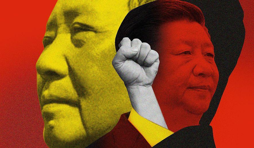 Mao and Hong Kong Today Illustration by Linas Garsys/The Washington Times
