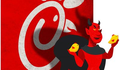 Chick-Fil-A and the Devil Illustration by Greg Groesch/The Washington Times